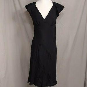 Vintage Dresses - Forties Style Black Bias Cut Dress 1940's Look S/M